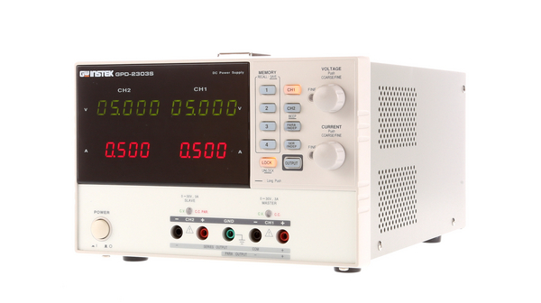 Buy Laboratory Power Supply 2 Ch. 0...30 VDC 3 A / 0...30 VDC 3 A, Programmable